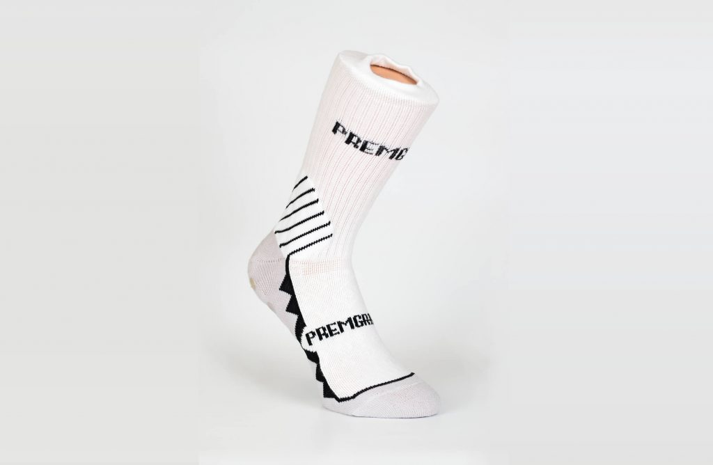 Premgripp White Black Sock BG