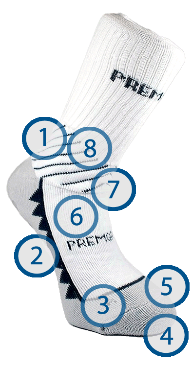 Premgripp bowling socks technical features